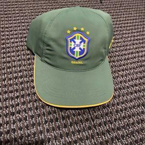 Nike Brazil soccer cap green